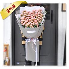 자나장미 하트꽃다발