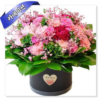 카네이션 꽃바구니-감사한가득(핑크)