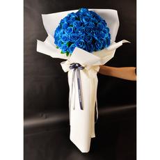 [비누꽃]파란장미 50송이